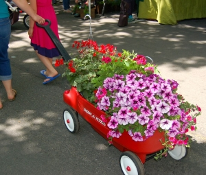 wagon of plants